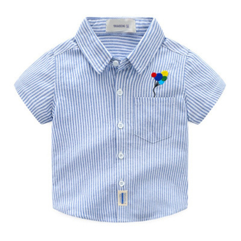 2018 Design Boys Summer Short Sleeve Boys Shirts Casual Turn-down Collar Camisa Masculina Blouses for Children Kids Clothes