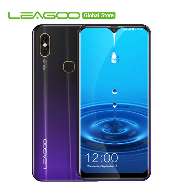 "Original LEAGOO M13 Android 9.0 19:9 6.1"" 4GB RAM 32GB ROM MT6761 Quad Core Fingerprint Face ID 4G Waterdrop Mobile Phone"