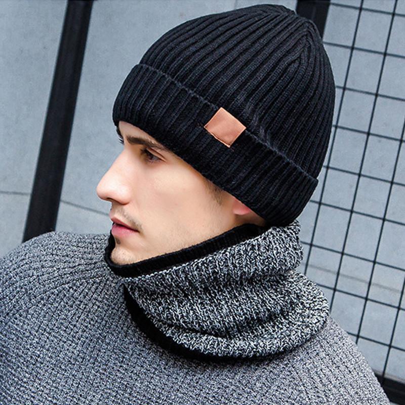 dcb19cb4dbc 2019 Warm Gloves Beanies Hat And Scarf Set Men Women 2018 Winter ...