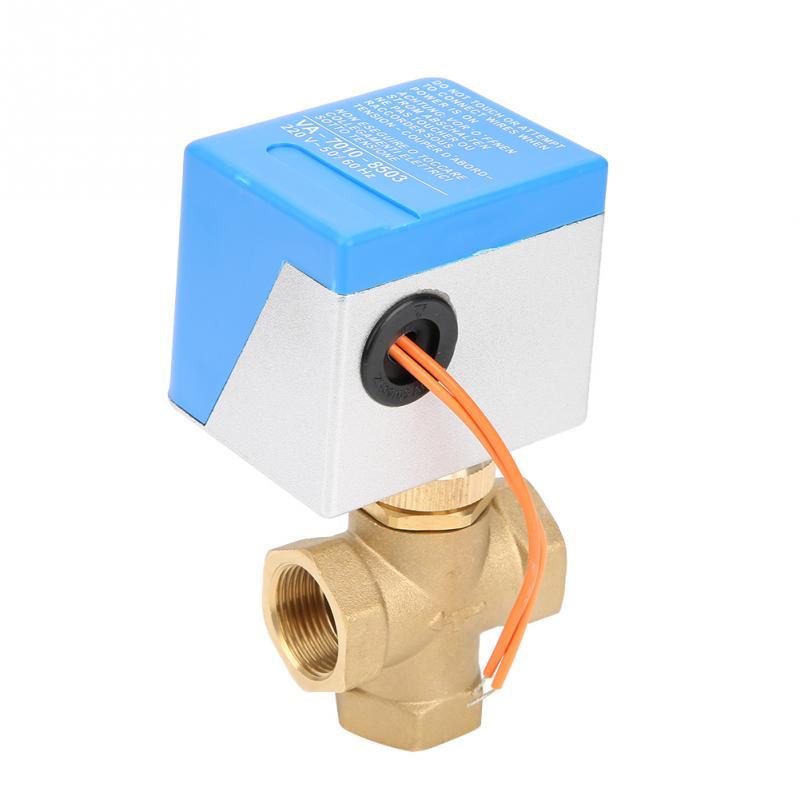 Heimwerker UnabhäNgig Dn15/dn20/dn25 Messing 3way/2way Motorisierte Ball Elektrische Ventil Für Klimaanlage Ac220v Neue BüGeln Nicht