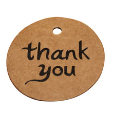 Kraft Paper Wedding Thank You Tag for Candy Gift Box decoracion