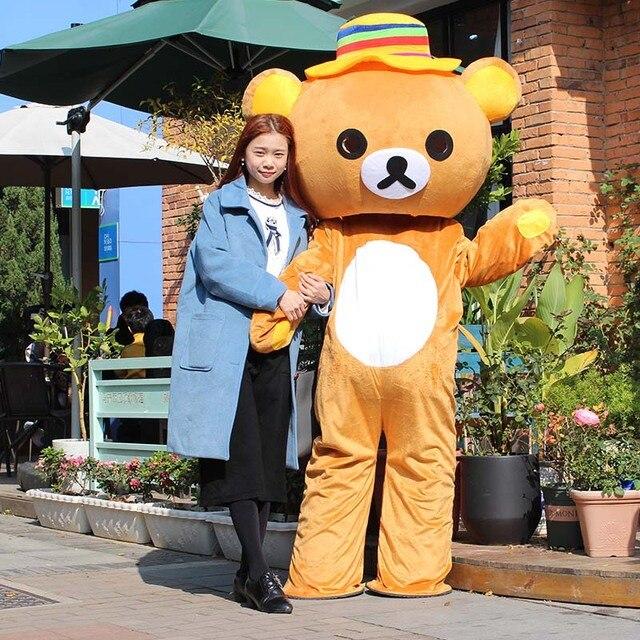 Japan Rilakkuma Mascot CostumesHalloween Christmas Birthday Party cosplay  bear Mascot Costumes Free Shipping