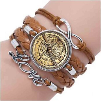 QiYuFang Sky Nice bracelet Compass Photo Glass men astrolabe women best friends bracelets image
