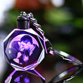 Customized Souvenirs Gift Decoration Heart Shape K9 Crystal Photos Frame Laser Engrave for Lover Baby Kids Glass Crafts KeyChain