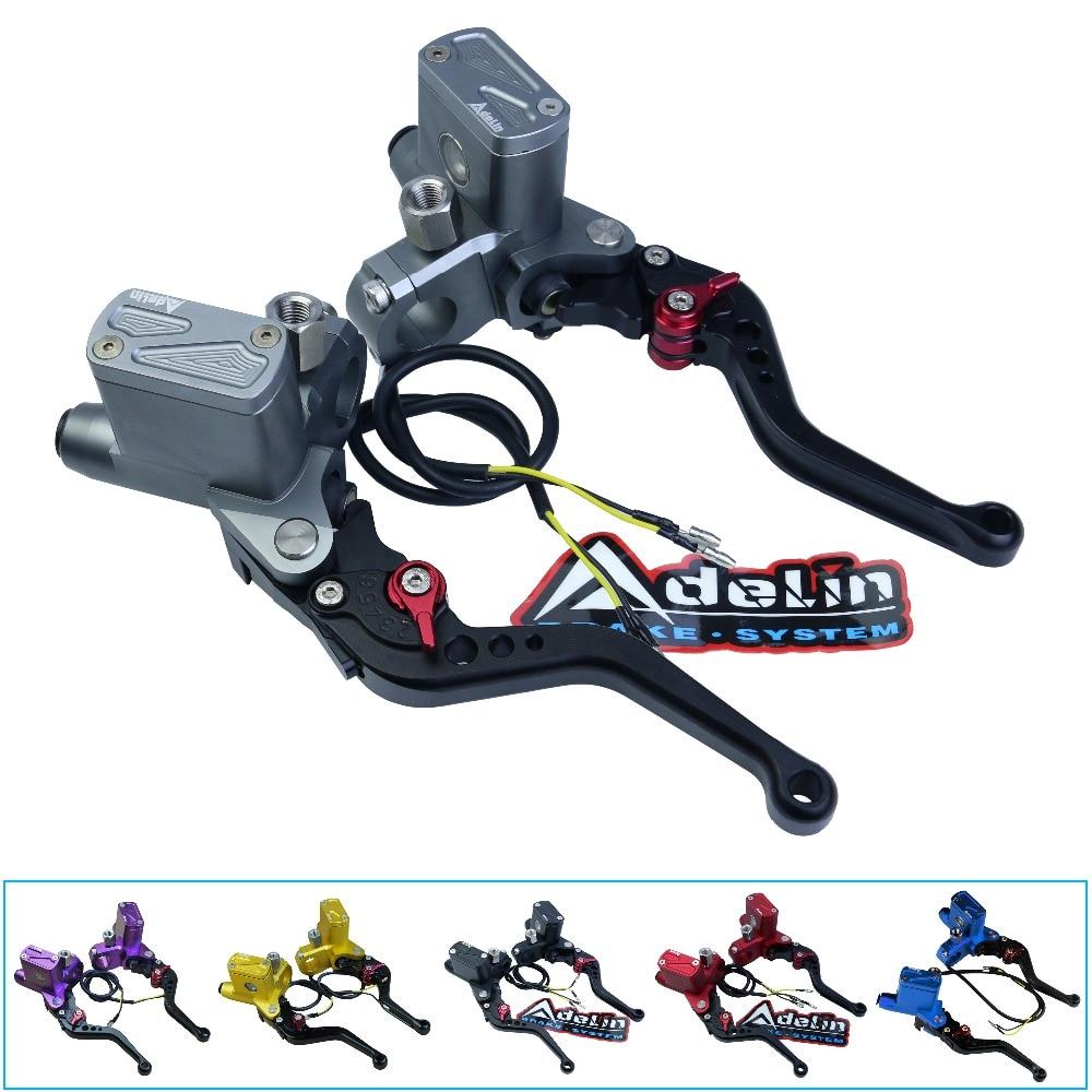 Universal motorbike cnc Adelin PX6 motorcycle brake clutch pump master cylinder lever handle For Yamaha Kawasaki Suzuki цена