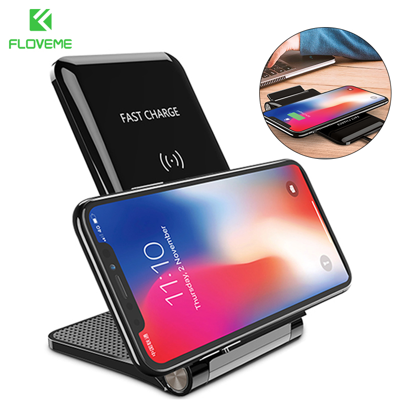 FLOVEME 10W Qi Fast Wireless Charger For iPhone X 10 8 Plus For Samsung Galaxy S8 S7 S6 S9 edge Note 8 Wireless Charging For LGG