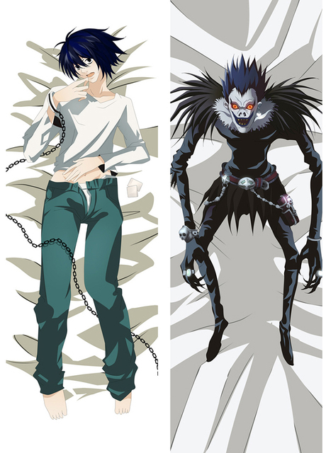 e6eb51493d Japan Anime Death Note L Lawliet Hugging Body Otaku Pillow Cover Case  Bedding Pillowcases