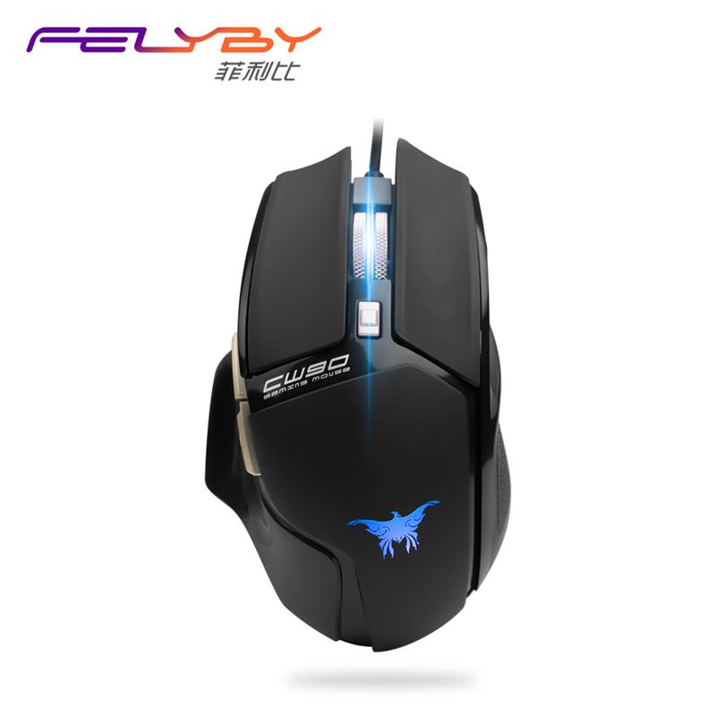 FELYBY Brand high-quality mouse professional dpi 3500 LED 4 color gaming mouse for computer PC Black body