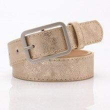 HUOBAO Fashion Shiny Black Leather Belt Female Silver Pin Buckle For Women Ladies Waist Belts Wide 2.8cm cinturon mujer