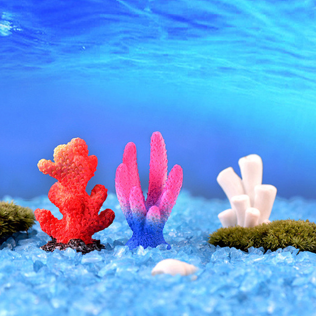 Fish Tank Ornaments Landscape Home Decoration Aquariums 1PC Starfish Coral Artificial Microlandschaft Resion DIY Popular 6