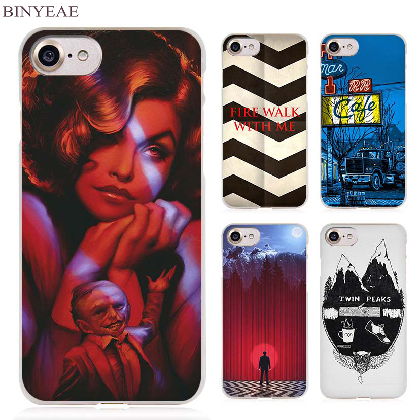 BINYEAE Welcome To Twin Peaks Clear Cell Phone Case Cover for Apple iPhone 4 4s 5 5s SE 5c 6 6s 7 7s Plus