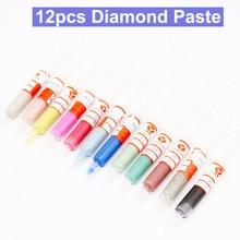12pcs Diamond Polishing Lapping Paste Compound Syringes 0.5 ~40 Micron Glass Metal Grinding Polishing AbrasIve Tools