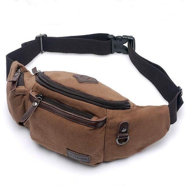 2016 o novo saco de lazer saco de ombro da lona saco da cintura dos homens