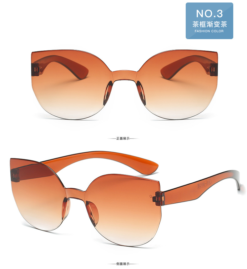 UCOOL 2018 Fashion Square Rimless Sunglasses Women Vintage Brand Designer Coating Sun Glasses UV400 (1)