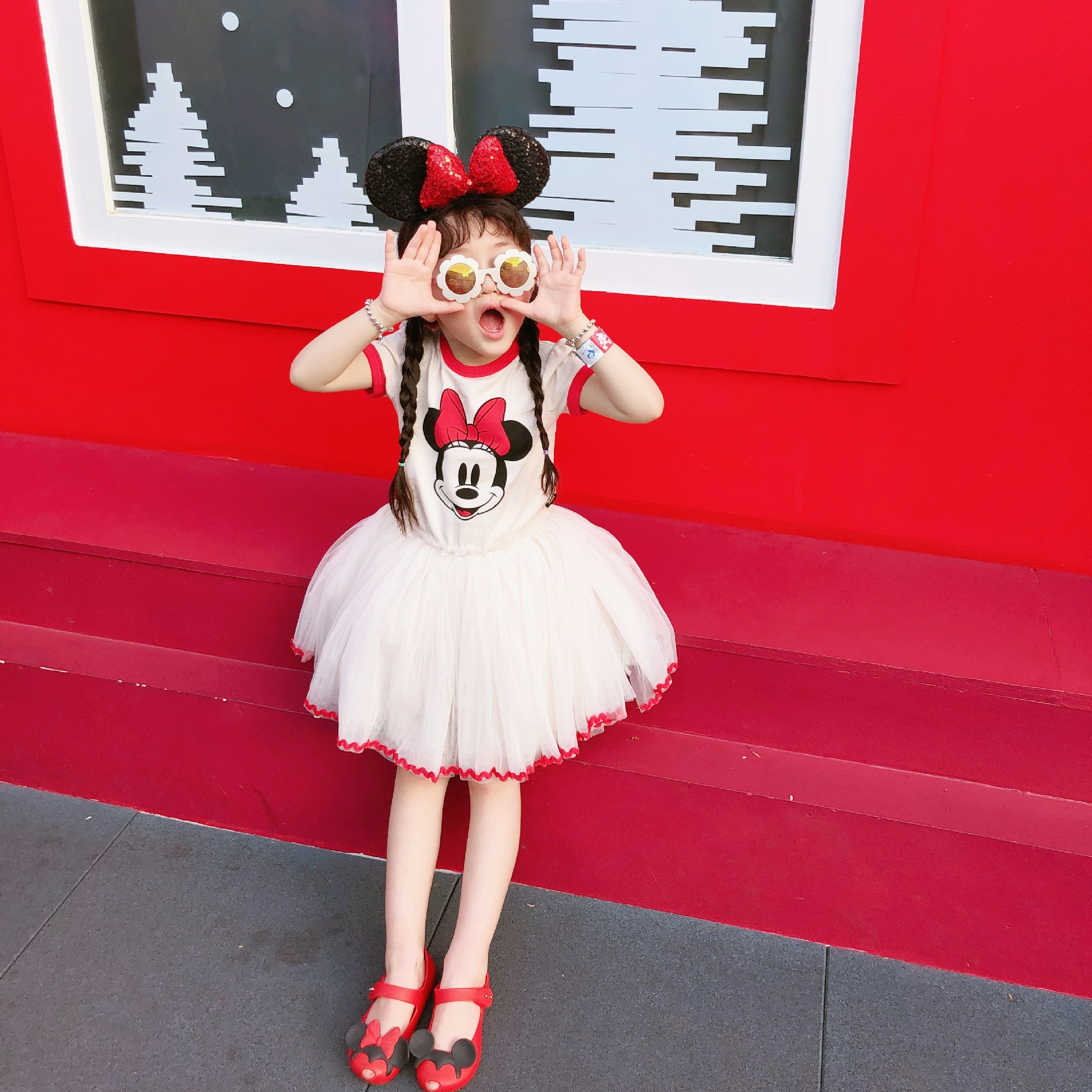 Minnie Mouse Christmas Dress.2019 New Arrival Christmas Dress Girl Princess Costume Cartoon Clothes Ball Gown Minnie Mouse Dress Summer Party A Line Kids