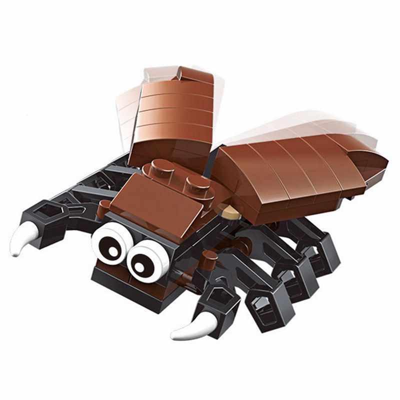 Блокировка животные насекомые Краб Осьминог ОСА Стрекоза фигурки животных строительные блоки Строительные кирпичи локационные DIY игрушки подарок в зоопарке
