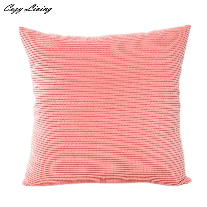 Pillow Cases 45*45CM Solid Corduroy Pillow Cases Linen Blend Pillow ...
