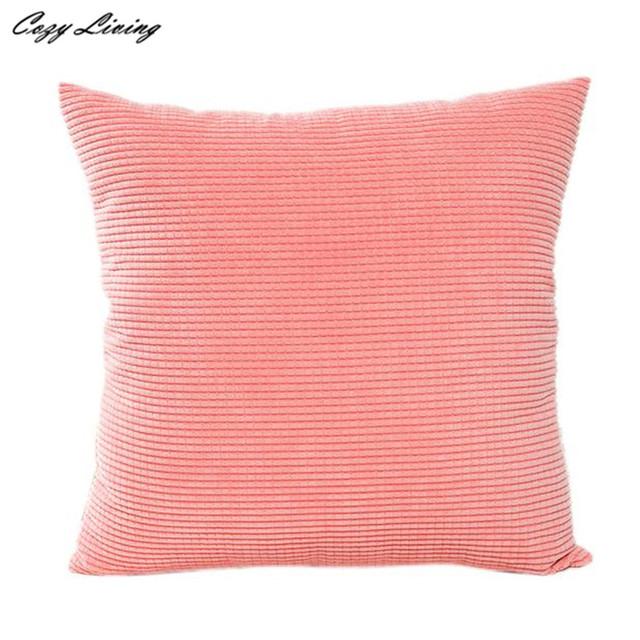 Pillow Cases 45*45CM Solid Corduroy Pillow Cases Linen Blend Pillow Covers Fashion Simple Square Pillowcase Wholesales D20