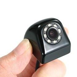 BYNCG רכב גיבוי מצלמה מתכת HD הפוך מצלמה מיני מבט קדמי/אחורי מצלמות 8 נוריות אורות ראיית לילה עמיד למים IP69