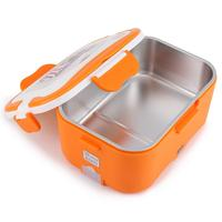 Pot 12V/24V Portable Food Container Warmer Lunch Box Heater Rice Case 1.5L Electric Food Heater Lunch Box Stainless Steel