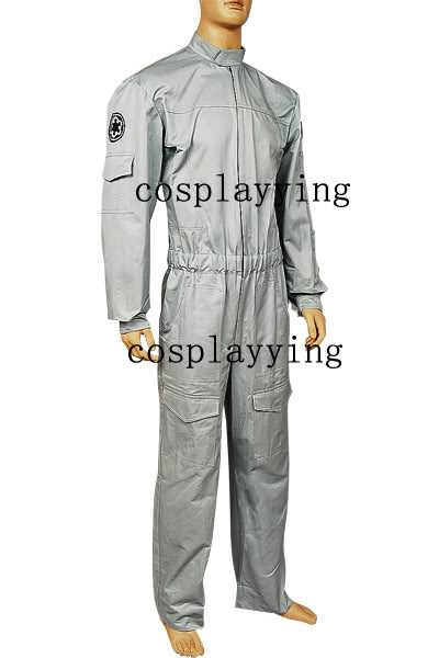 star wars imperial technician AT ST flightsuit uniform jumpsuit Cosplay Costume