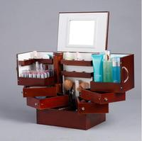 Degrees To The South Korean Drawer Type Solid Wood System Desktop Cosmetics Storage Box Cover