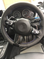 For BMW F20 F22 F21 F30 F32 F33 F36 F06 F12 F13 X5 F15 X6 F16 M Sport Carbon Fiber Steering Wheel Trim