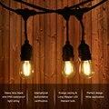 10 M 15 M 10 piezas 2 W LED impermeable E26/E27 cadena de luces de interior/al aire libre de la calle Jardín luces de cadena de vacaciones Patio trasero UE/EE. UU.