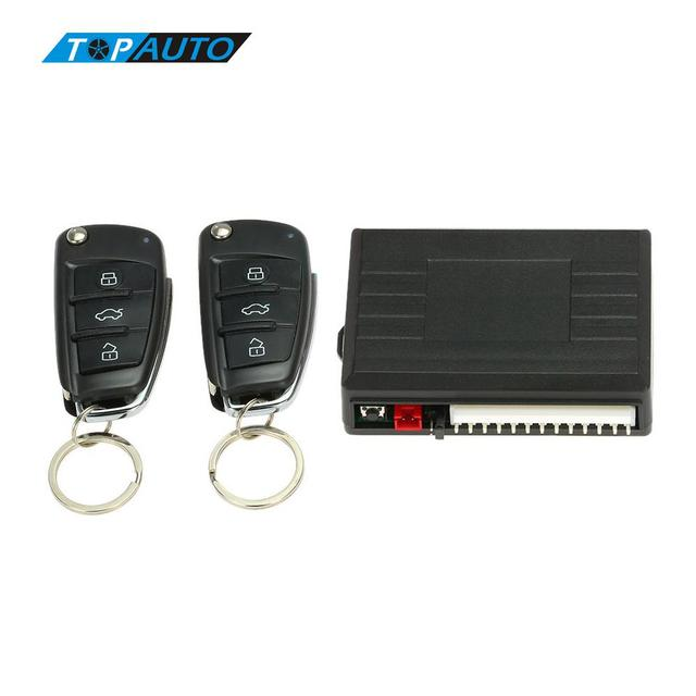 Car Alarm System With Flip Key Remote Central Locking Push Start Stop On For Toyota Peugeot