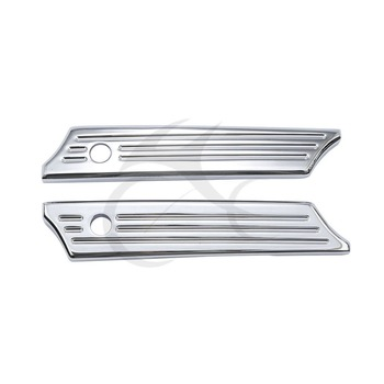 Saddlebag Latch Covers Chrome For Harley Ultra Limited Street Glide Road King