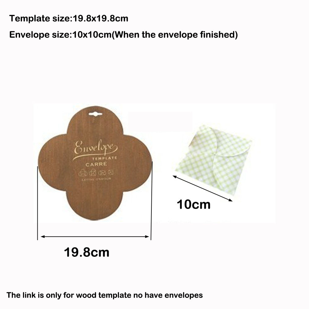 1pc Square Envelope Template Manual Stencil Mould Make Envenlops Diy
