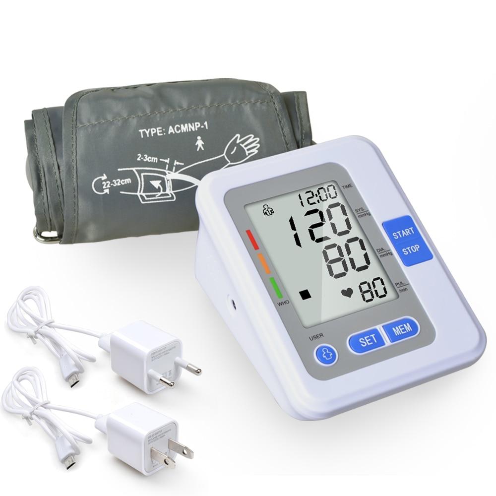 NEW Digital LCD Blood Pressure Monitor Upper Arm Blood Pressure Meter With Voice Sphygmomanometer Portable Tonometer Tensiometro