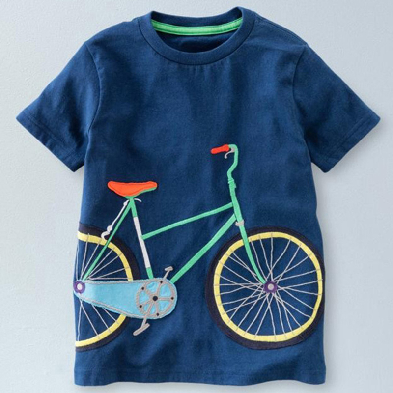 New Boys T Shirts Summer 2018 Short Sleeve T Shirt Children Cartoon Tops Spring Little Boy T-Shirt O-neck Cotton Toddler Tshirts cotton blends cartoon bull and letters print round neck short sleeve t shirt