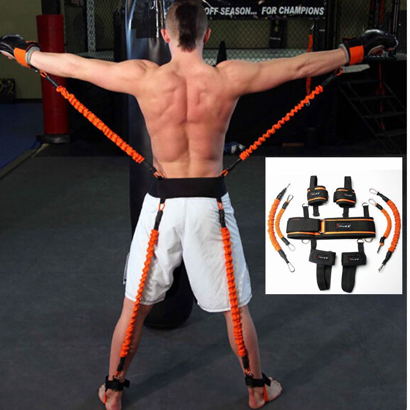Resistance Bands Boxing Crossfit Training Belt Leg Strength and Agility Training Strap for Football Basketball Taekwondo