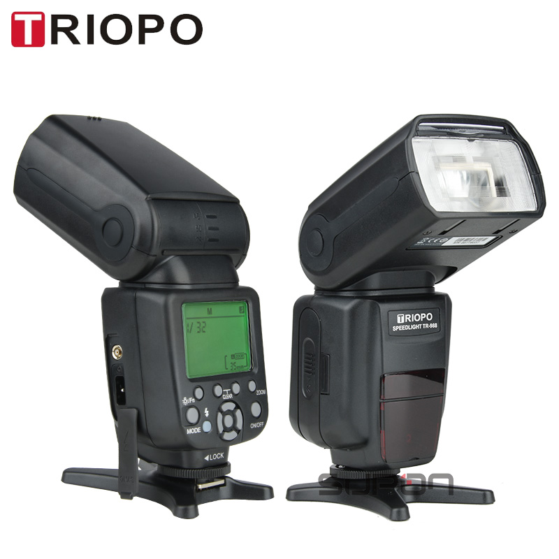 TRIOPO TR-988 Flash Professional Speedlite TTL Camera Flash with High Speed Sync for Canon and Nikon Digital SLR Camera Top sell image