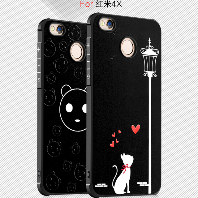 reputable site d2514 b8943 US $4.99 |For Xiaomi Redmi 4X Case Fashion 3D Soft Silicone Painting  Cartoon Frosted Protective back cover cases for xiaomi redmi4x shell-in  Fitted ...