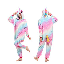 Onesie Wholesale Animal Kigurumi Stitch Unicorn Onesies Adult Unisex Women Hooded Sleepwear Adult Winter Flannel Pyjamas Narwhal