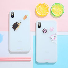 Soft Case Cute Cover For iphone 7 8 X XS XR Xsmax TPU Silicone iPhone 5S 6 6S 6plus Anti-knock Animal