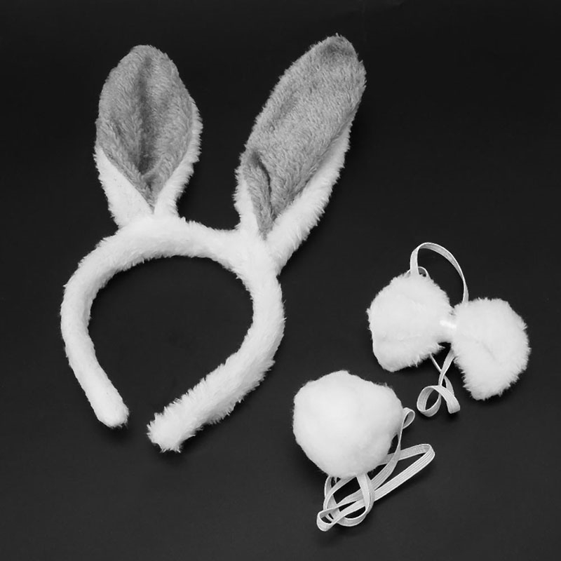 2017 Halloween Christmas Costume Rabbit Bunny Ears Headband Funny Cute Plush Hair Band For Festival Soft Fashion Lovely Hairband