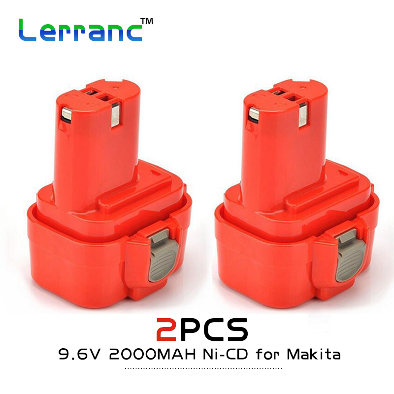 QTY 2X 9.6V 2.0A 2000MAH Ni-CD Cordless Power tools Replacement battery for Makita 9122/9120/9100/9101/DA392D/192595-8 2 x panku 18v 3 0ah nimh replacement battery for porter cable pc18b 2 18 volt cordless tools batteries