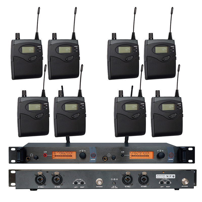 In Ear Monitor Wireless System SR2050 Double transmitter Monitoring Professional for Stage Performance 8 receivers ukingmei uk 2050 wireless in ear monitor system sr 2050 iem personal in ear stage monitoring 2 transmitter 2 receivers