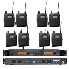 Kulak Monitörü Kablosuz Sistemi SR2050 Çift verici Izleme Profesyonel Sahne Performansı için 8 alıcıları