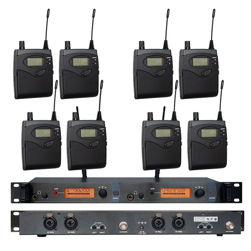 In Ear Monitor di Sistema di SR2050 Doppio trasmettitore Senza Fili di Monitoraggio Professionale per la Prestazione Della Fase 8 ricevitori