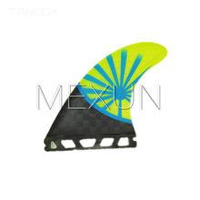 Ebuy360 (3pieces/lot) 2016 FUTURE G5 Carbon Fiberglass Honeycomb Surfboard Stern Rudder Fin Dimension M Flat Foil Fin Surf Fins