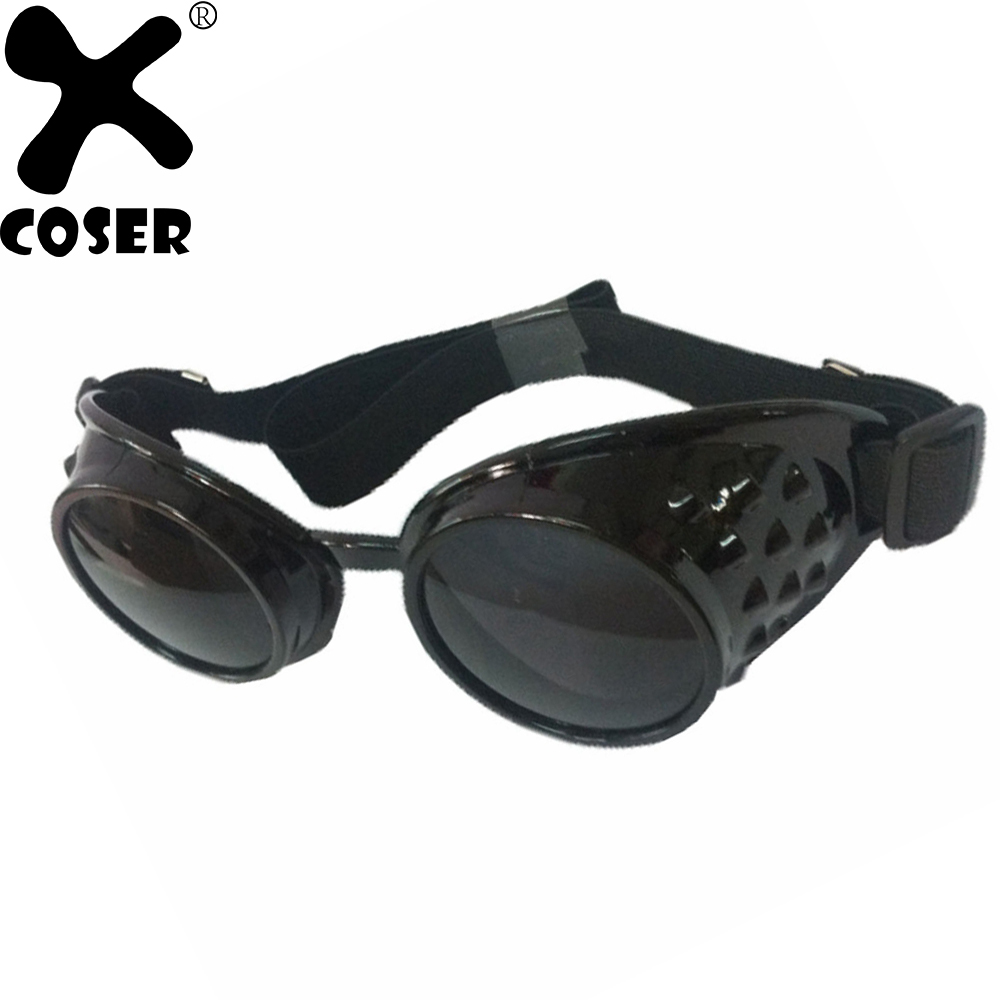 XCOSER Mad Max Furiosa Cool Goggles Glasses Props Vintage Steampunk Gothic Anti-dust Safety Glasses Movie Cosplay Costume Props