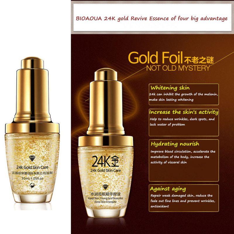 24K Gold Face Cream Whiten Moisturizing 24 K Gold Day Cream Hydrating 24K Gold Essence Serum For Women Face Skin Care