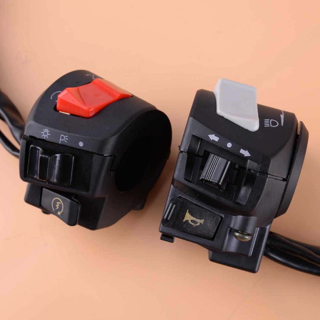 dwcx 7 8 motocicleta guiador chifre sinal de volta farol interruptor partida eletrica esquerda e direita