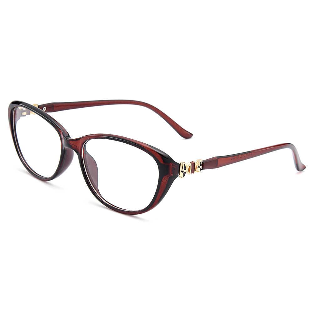 Gmei Optik Vintage Oval Wanita Penuh Rim Optik Kacamata Bingkai Kacamata Urltra-Light TR90 Plastik Wanita Miopia Baca Kacamata M1539