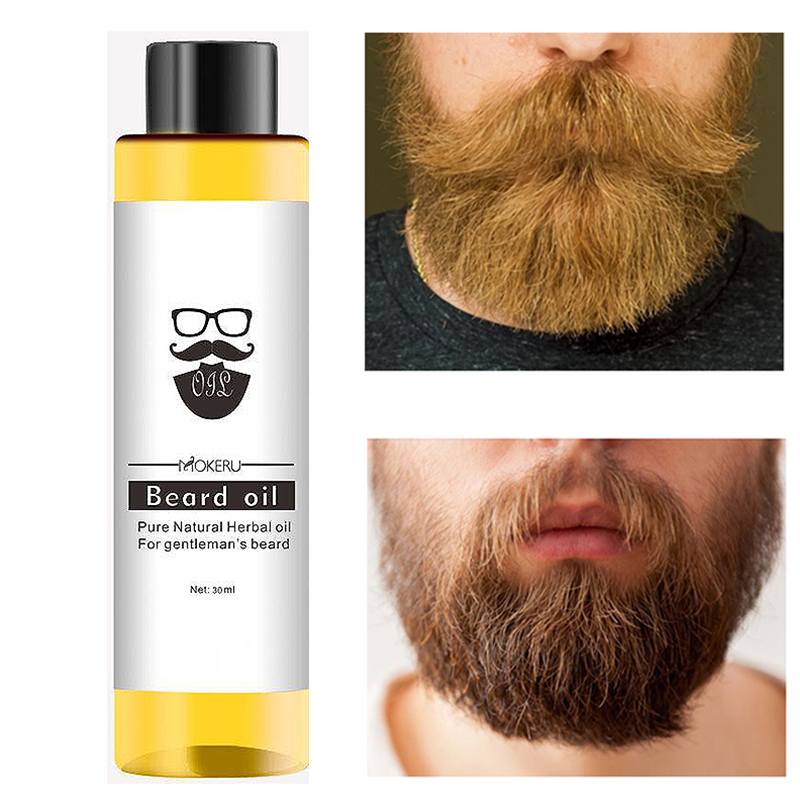 Mokeru Easy Smoothing Nutrition Moustache 30ml Beard Oil Natural Beard Growth Oil For Men Beard Pro Care Products Anti Hair Loss