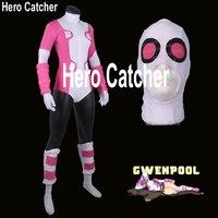 Hero Catcher Hoge Kwaliteit Gwenpool Kostuum Roze Gwenpool Pak Spandex Lycra Pak Zentai Cosplay Kostuum Gwen Zwembad Kostuum